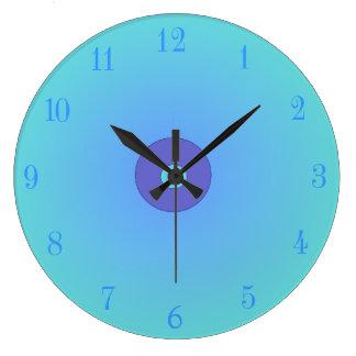 Illuminated Aqua mauve Plain Kitchen Clocks