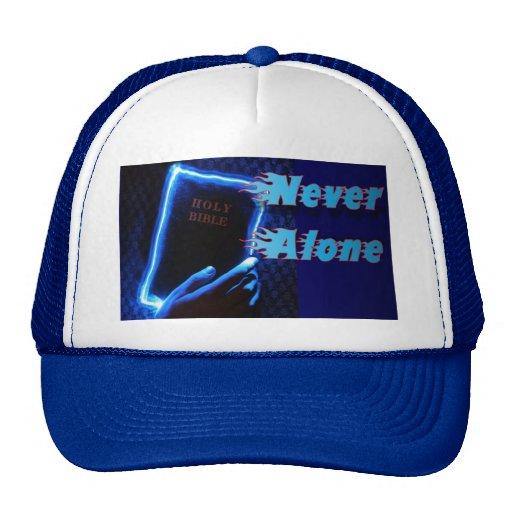 Illuminated Bible Never Alone Trucker Hat