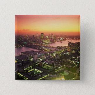 Illuminated Cityscape 15 Cm Square Badge