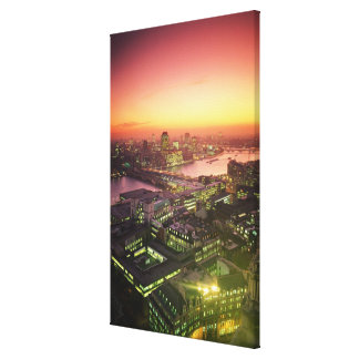 Illuminated Cityscape Gallery Wrapped Canvas