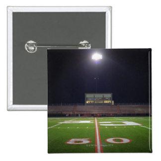 Illuminated Football Field 15 Cm Square Badge