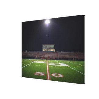 Illuminated Football Field Canvas Print