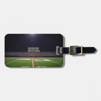 Illuminated Football Field Luggage Tag