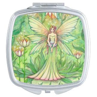 Illuminated Garden Fairy Fantasy Art Mirror For Makeup