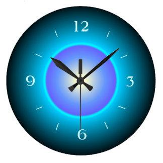Illuminated Green/Aqua with Purple>Wall Clock
