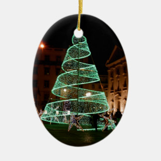 Illuminated Green Christmas Tree Christmas Ornament
