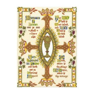 Illuminated Manuscript for Easter. Canvas Print
