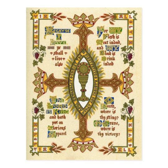 Illuminated Manuscript for Easter. Postcard
