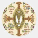 Illuminated Manuscript for Easter. Round Sticker