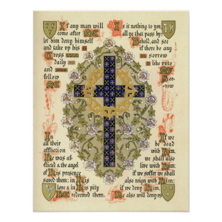 Illuminated Manuscript for Septuagesima and Lent Poster