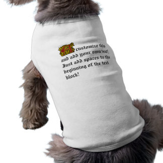 Illuminated Manuscript with A Dog Tshirt