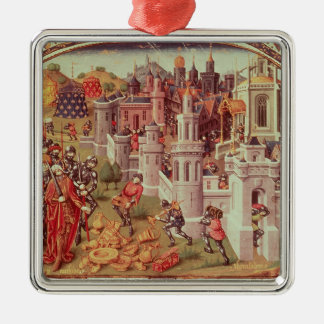 Illuminated miniature from a universal Silver-Colored square decoration