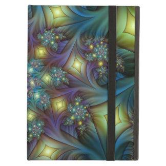 Illuminated modern blue purple Fractal Pattern Case For iPad Air