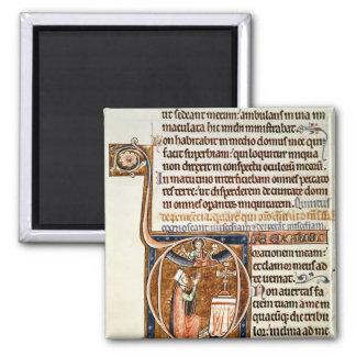 Illuminated page square magnet