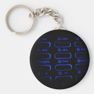 illuminated phone keyboard basic round button key ring
