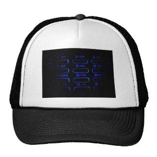 illuminated phone keyboard mesh hats