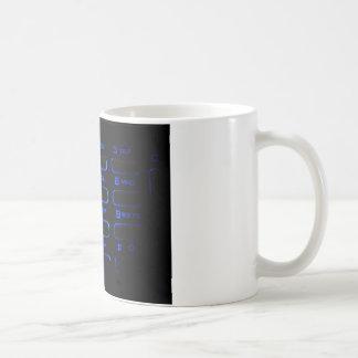 illuminated phone keyboard coffee mug