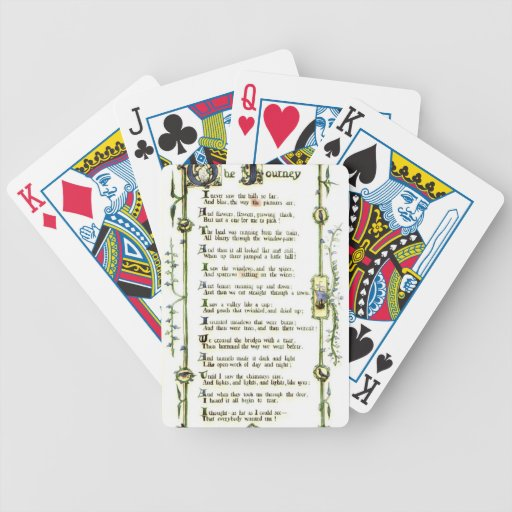 Illuminated Poem 1903 Poker Cards