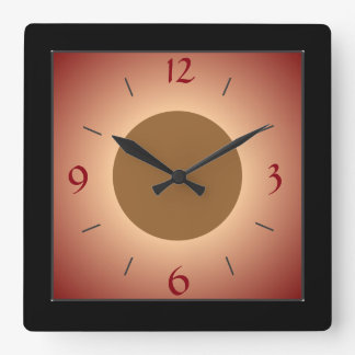Illuminated Red/Tan/yellow  Wall Clock