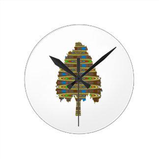 ILLUMINATED Revolving Tree: Graphic Art  LOWPRICE Round Clock