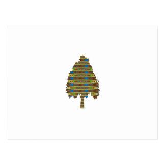 ILLUMINATED Revolving Tree: Graphic Art  LOWPRICE Postcard