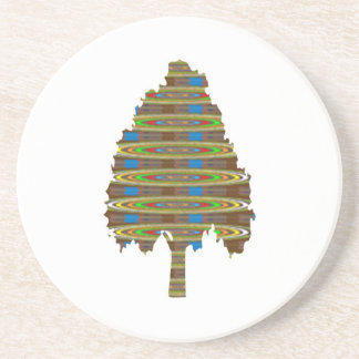 ILLUMINATED Revolving Tree: Graphic Art  LOWPRICE Sandstone Coaster