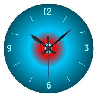 Illuminated Sea green/ Red> Wall Clock