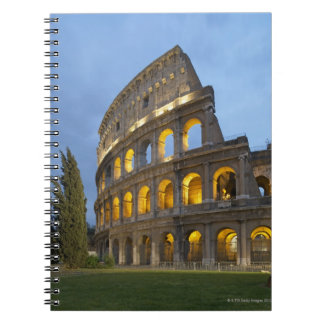 Illuminated section of the Colosseum at dusk. Notebook
