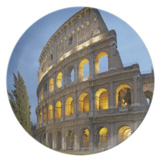 Illuminated section of the Colosseum at dusk. Party Plate