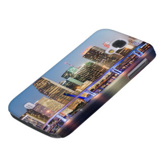 Illuminated skyline of downtown Miami at dusk Galaxy S4 Case