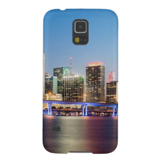Illuminated skyline of downtown Miami at dusk Galaxy S5 Case