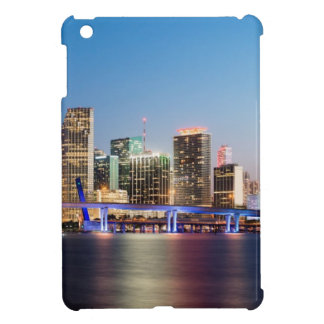 Illuminated skyline of downtown Miami at dusk iPad Mini Case