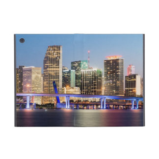 Illuminated skyline of downtown Miami at dusk iPad Mini Cover