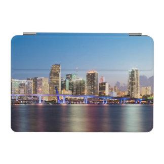 Illuminated skyline of downtown Miami at dusk iPad Mini Cover