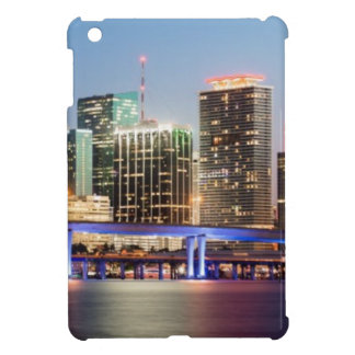 Illuminated skyline of downtown Miami at dusk iPad Mini Covers