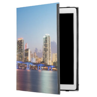 "Illuminated skyline of downtown Miami at dusk iPad Pro 12.9"" Case"