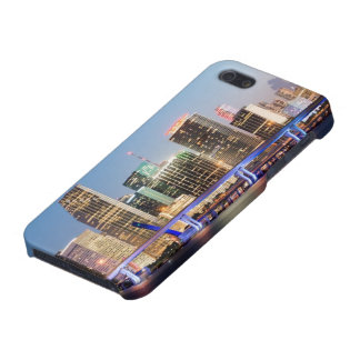 Illuminated skyline of downtown Miami at dusk iPhone 5 Case