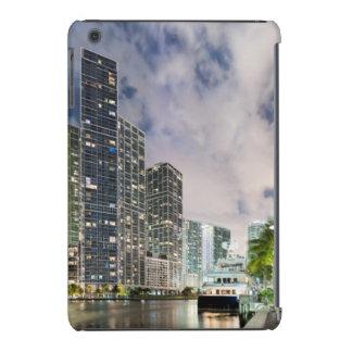 Illuminated towers at the Miami River waterfront iPad Mini Retina Cover