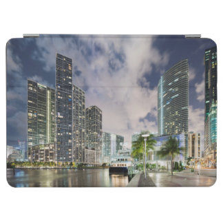 Illuminated towers at the Miami River waterfront iPad Air Cover