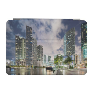 Illuminated towers at the Miami River waterfront iPad Mini Cover