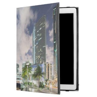 "Illuminated towers at the Miami River waterfront iPad Pro 12.9"" Case"