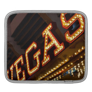 Illuminated Vegas sign iPad Sleeve