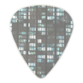 Illuminated windows pattern acetal guitar pick