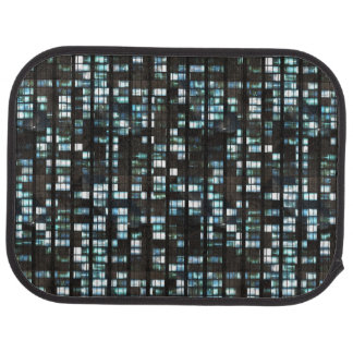 Illuminated windows pattern car mat