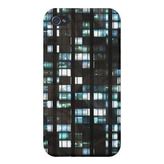 Illuminated windows pattern case for iPhone 4