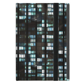 Illuminated windows pattern iPad mini case