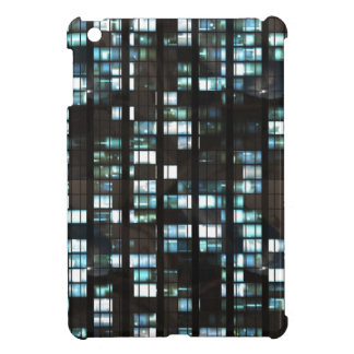 Illuminated windows pattern iPad mini cover