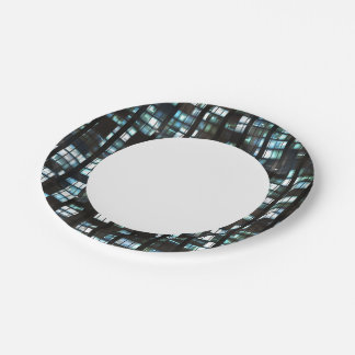 Illuminated windows pattern paper plate