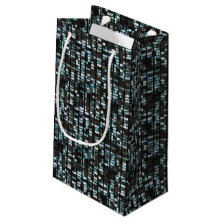 Illuminated windows pattern small gift bag