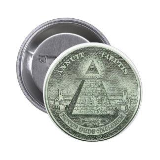 Illuminati - All seeing eye 6 Cm Round Badge